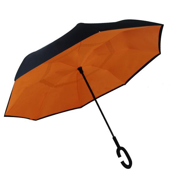 Зонт обратного сложения Up-Brella Оранжевый + чехол 31000-nri, КОД: 185126