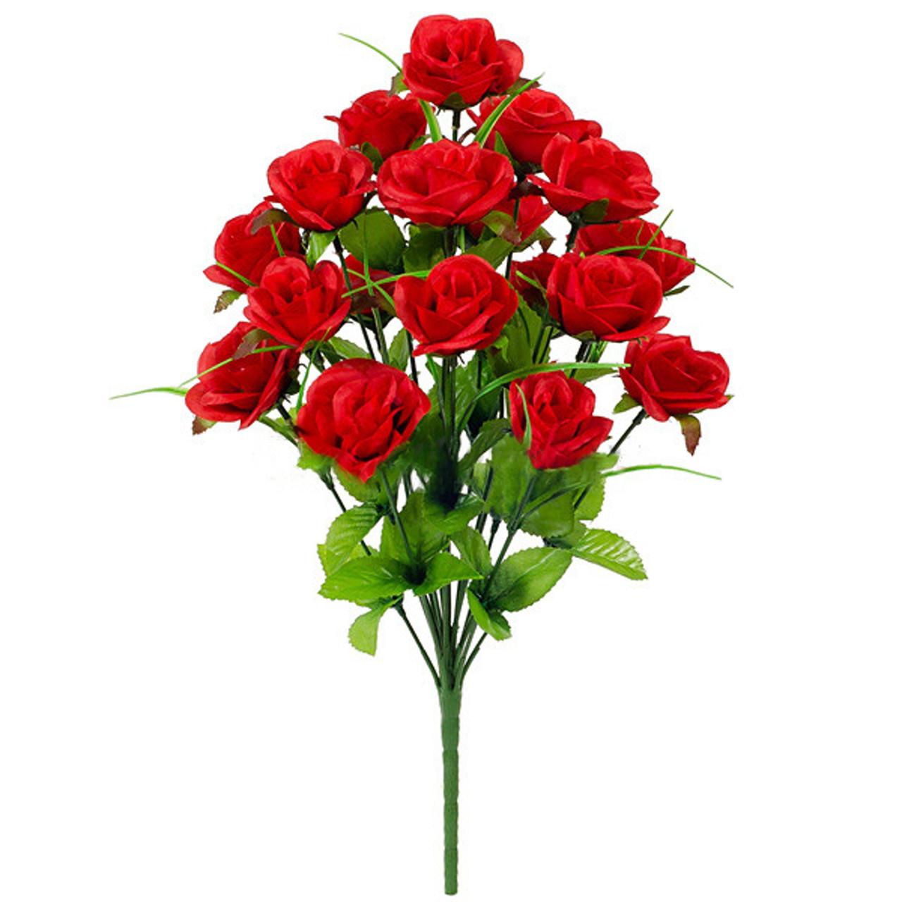 Букет искусственной чайной розы, 46см (16 шт. в уп)