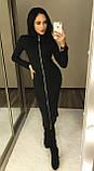 Утепленное платье на молнии / трикотаж джерси с начесом / Украина 1-545, фото 5