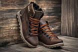Кожаные ботинки мужские зимние CAT Expensive Chocolate, фото 4