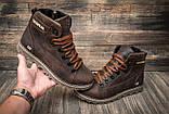 Кожаные ботинки мужские зимние CAT Expensive Chocolate, фото 5