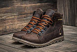Кожаные ботинки мужские зимние CAT Expensive Chocolate, фото 6