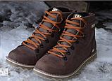 Кожаные ботинки мужские зимние CAT Expensive Chocolate, фото 7