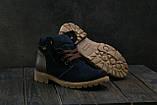 Подростковые зимние замшевые Ботинки Braxton темно-синего цвета, фото 4