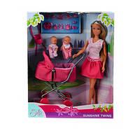 Штеффи в платье и близнецы в коляске,набор кукол,  Steffi & Evi Love (573 8060-2)
