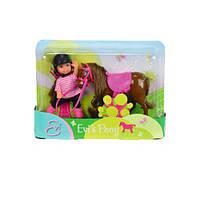 Эви и бурая пони, кукла, Steffi & Evi Love (573 7464-2)