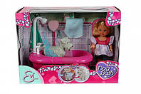Эви и набор для купания щенка с функцией смены цвета, кукла, Steffi & Evi Love (573 3094)