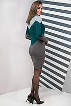 Платье вязаное шерстяное под горло теплое Эльза размер 44-50, фото 3