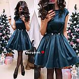 Женское атласное платье с фатиновым подьюбником (4 цвета), фото 5