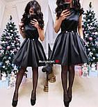 Женское атласное платье с фатиновым подьюбником (4 цвета), фото 7