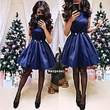 Женское атласное платье с фатиновым подьюбником (4 цвета), фото 6