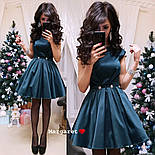 Женское атласное платье с фатиновым подьюбником (4 цвета), фото 10