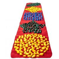 Коврик массажный с цветными камнями фигурный 200 х 40 см