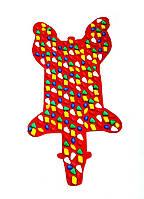 Коврик массажный с цветными камнями Медведь 100 х 50 см