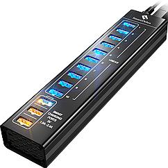 USB-хаб SmartDelux 13-портовый Black SDU3-P10C3, КОД: 197096