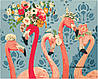 Картины по номерам 40*50 см В КОРОБКЕ Красотки фламинго Artstory