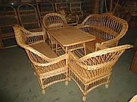 """Плетеная мебель из лозы. Набор """"Простый 7"""""""