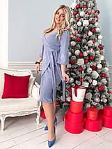 """Теплое облегающее миди-платье """"Sabina"""" с имитацией запаха (большие размеры), фото 2"""
