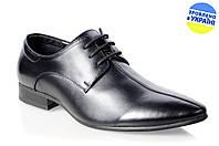 Мужские классические туфли intershoes 13v140 черные   весенние , фото 1