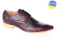 Мужские классические туфли intershoes 13l257 коричневые   летние , фото 1