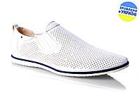 Мужские туфли стиля джинс intershoes 13l460 белые   летние , фото 1