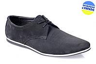 Мужские туфли стиля джинс prime 425нуб черные   весенние