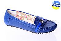 Женские мокасины vitto rossi 377-26син синие   весенние