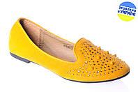 """Женские туфли """"лодочка"""" el-shoes 996-13жолт желтые   весенние"""
