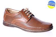 Мужские туфли комфорт mida 13819кум коричневые   летние , фото 1
