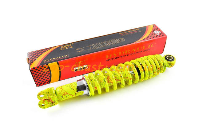 Амортизатор   GY6, DIO ZX, LEAD   310mm, регулируемый   (лимонный +паутина)   NDT, фото 2