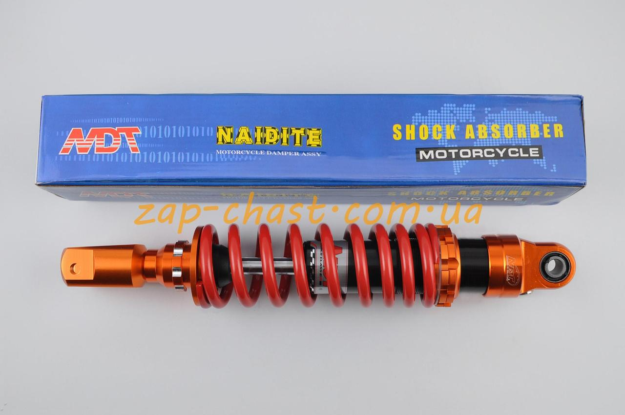 Амортизатор   GY6, DIO ZX, LEAD   320mm, тюнинговый   (оранжево-красный)   NDT