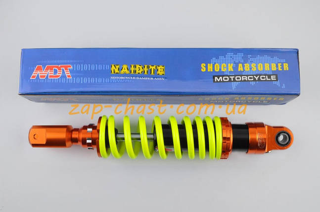 Амортизатор   GY6, DIO ZX, LEAD   320mm, тюнинговый   (оранжево-лимонный)   NDT, фото 2