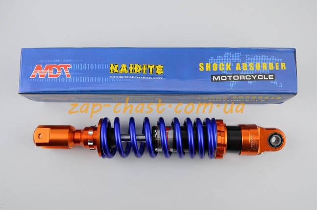 Амортизатор   GY6, DIO ZX, LEAD   320mm, тюнинговый   (оранжево-синий)   NDT, фото 2