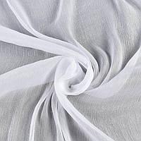 Шифон блискучий жатий белий ш.150 (15930.002)