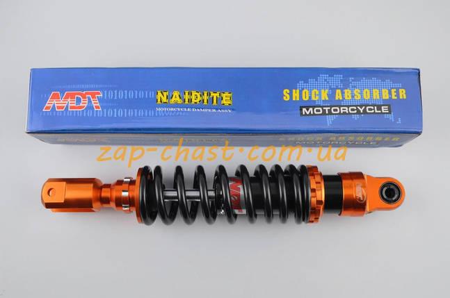 Амортизатор   GY6, DIO, LEAD   290mm, тюнинговый   (оранжево-черный)   NDT, фото 2