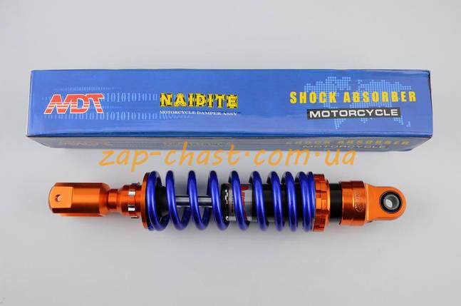 Амортизатор   GY6, DIO, TACT   270mm, тюнинговый   (оранжево-синий)   NDT, фото 2