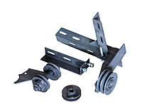 Переходник под роторную косилку для мотоблока (на ВОМ, металические ролики, + ремень), фото 1