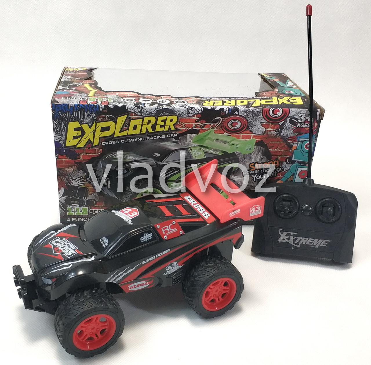 фото машинка на радиоуправлении скоростной джип красный