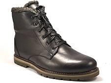 Ботинки зимние на овчине кожаные мужские утепленные Rosso Avangard Whisper Wool Black черные