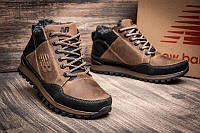 Кроссовки зимние мужские кожаные New Balance clasic brown копия
