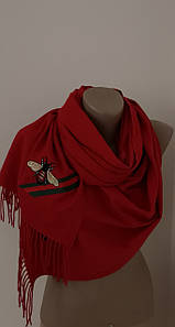 Женский Gucci Кашемировый шарф-палантин.Красный Гуччи. Фирменый принтКашемир 180\70
