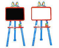 Доска для рисования магнитная 013777/7 оранжево-голубой