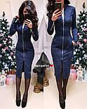 Женское замшевое платье-миди с карманами на молнии (5 цветов), фото 8