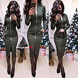 Женское замшевое платье-миди с карманами на молнии (5 цветов), фото 10