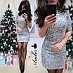 Женское платье в пайетку с коротким рукавом, фото 2