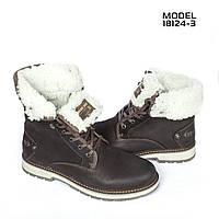 Мужские кожаные зимние ботинки Belvas Shoes Brown