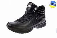 Мужские ботинки с мехом на шнуровке rst 13424b.w черные   зимние , фото 1