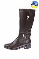 Женские ботинки кожаные на меху dixi 2219кор коричневые   зимние , фото 1