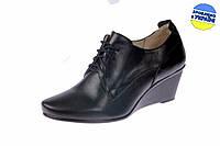 Женские классические кожаные туфли forever 524 черные   весенние