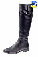 Женские сапоги кожаные на меху mafia 4895/2 черные   зимние , фото 1